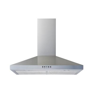 36 in. Convertible Wall Mount Range Hood in Stainless Steel with Mesh Filters and Push Button Control