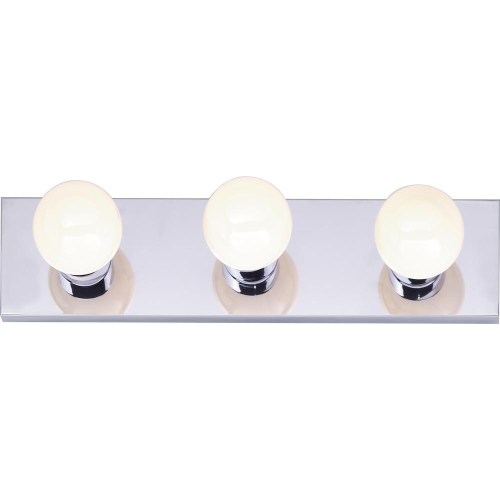 Tony 18.00 in. 3-Light Polished Chrome Vanity Light
