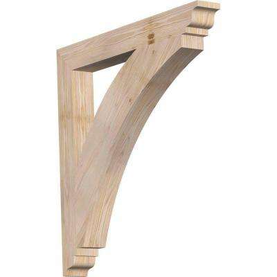 3.5 in. x 32 in. x 32 in. Douglas Fir Thorton Traditional Smooth Bracket