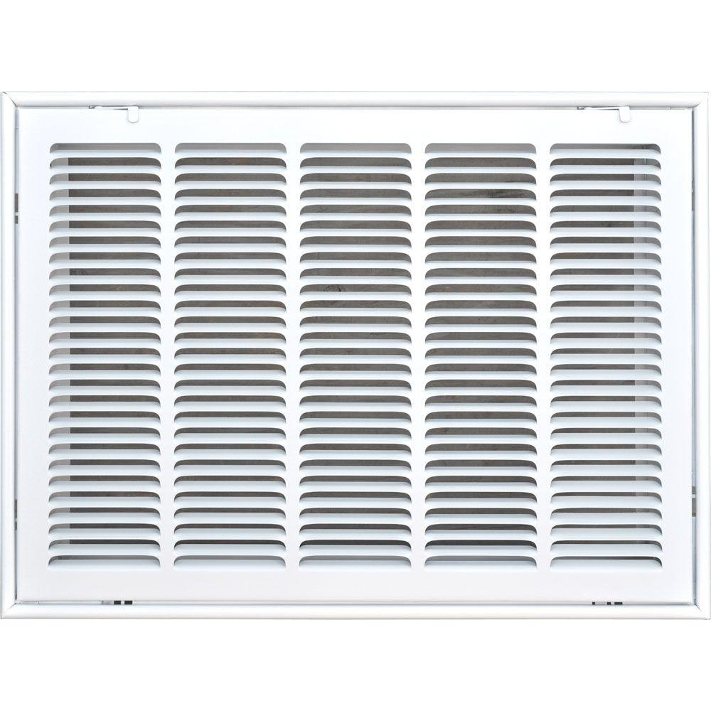 20 in. x 16 in. Return Air Vent Filter Grille, White