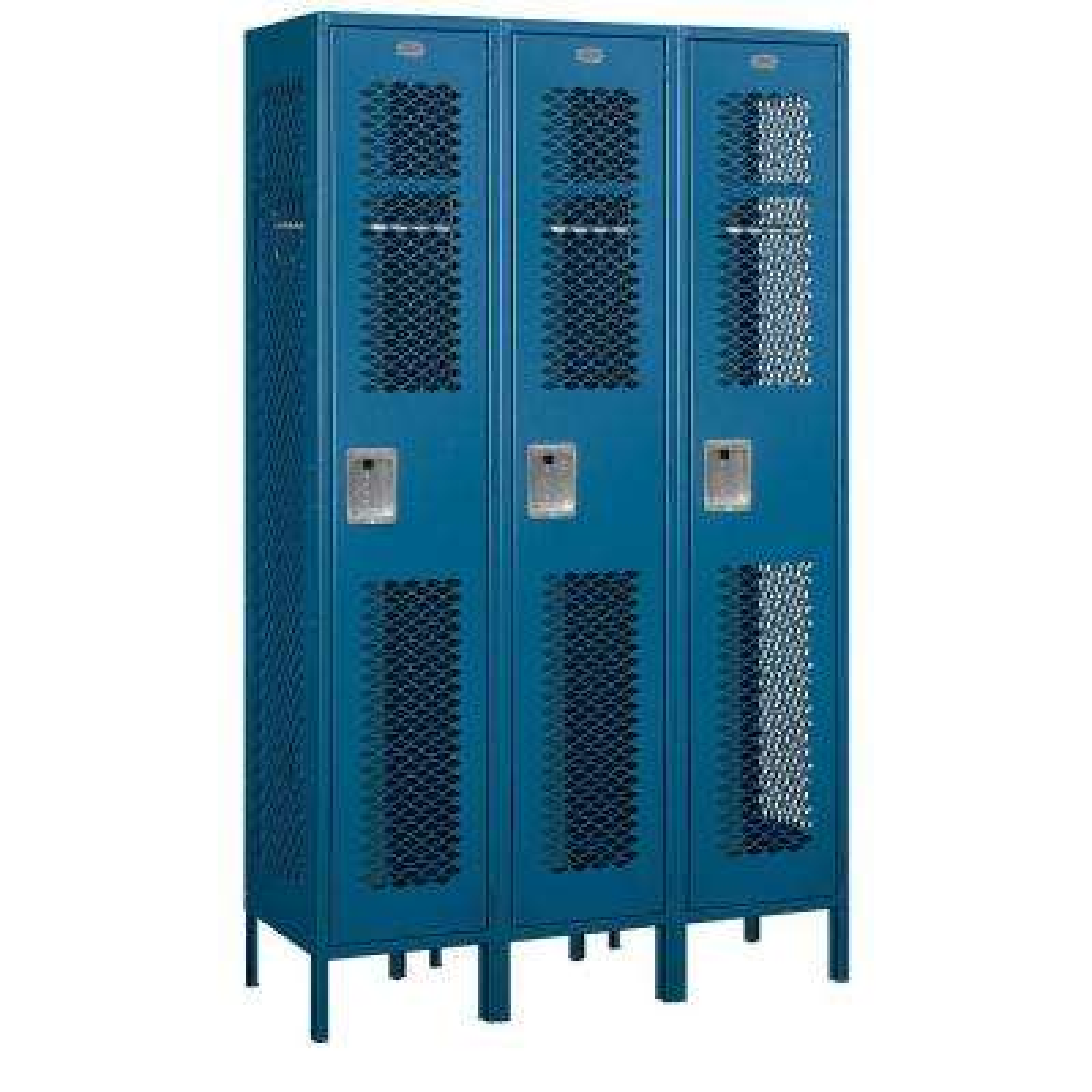 81000 Series 45 in. W x 78 in. H x 18 in. D Single Tier Extra Wide Vented Metal Locker Assembled in Blue
