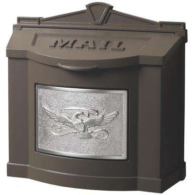 Eagle Accent Wall Mount Mailbox Bronze with Satin Nickel