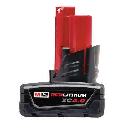 M12 12-Volt Lithium-Ion XC Extended Capacity Battery Pack 4.0Ah