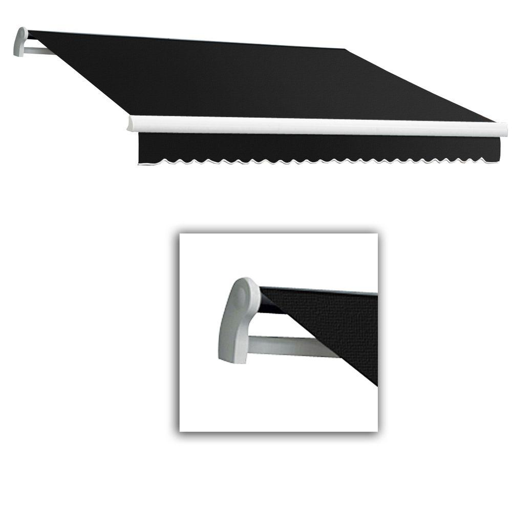 AWNTECH 20 ft. LX-Maui Left Motor with Remote Retractable Acrylic Awning (120 in. Projection) in Black