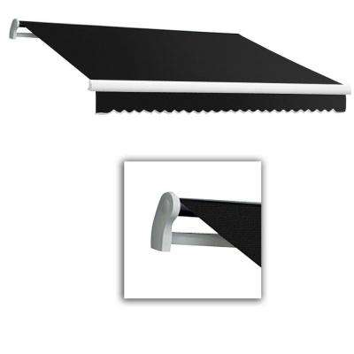12 ft. Maui-LX Left Motor with Remote Retractable Awning (120 in. Projection) Black
