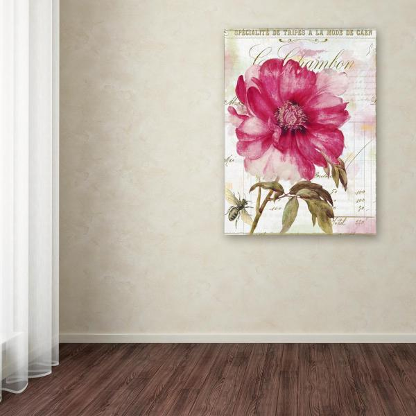 Trademark Fine Art 24 in. x 18 in. ''Lepink With Bee''