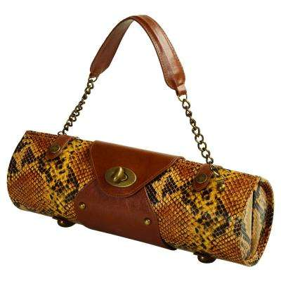 Yellow Snake Wine Carrier and Purse