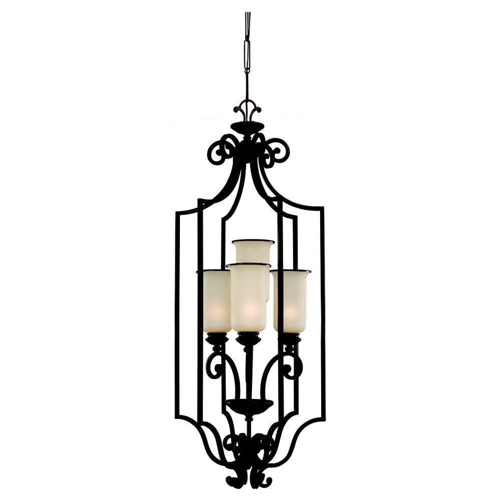 Sea Gull Lighting Acadia 4-Light Misted Bronze Hall/Foyer Pendant