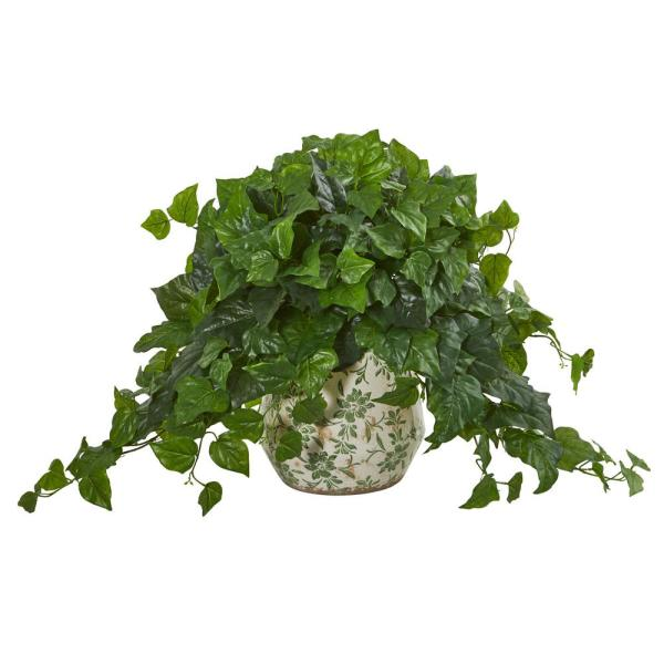 Nearly Natural Indoor 23 in. London Ivy Artificial Plant in Vase