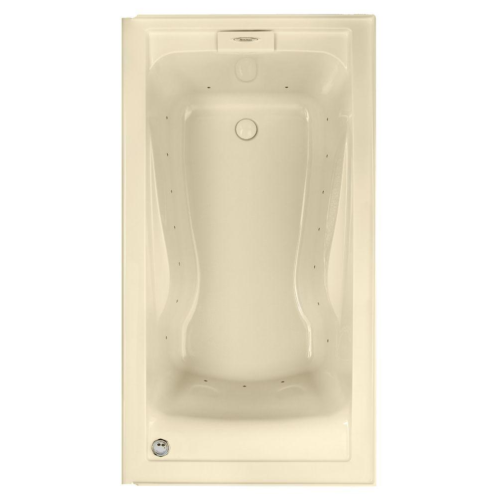 American Standard EverClean 5 ft. x 32 in. Air Bath Tub with Integral Apron and Left Drain in Bone