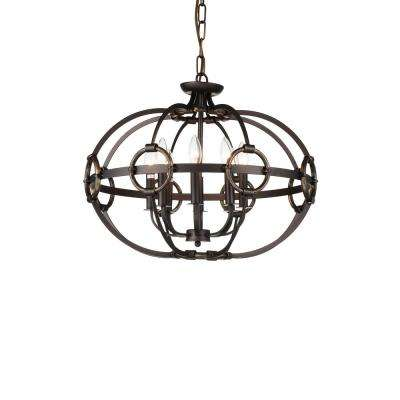 Rustic brown chandeliers lighting the home depot vernal 8 light brushed golden brown chandelier aloadofball Gallery