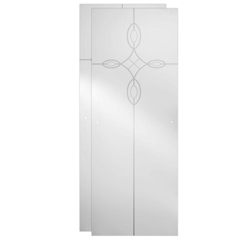 Delta 23-17/32 x 67-3/4 in. x 1/4 in. Frameless Sliding Shower Door Glass Panels in Tranquility (1-Pair for 44-48 in. Doors)