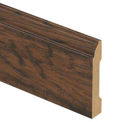 Coffee Hand Scraped Hickory 9/16 in. Thick x 5-1/4 in. Wide x 94 in. Length Laminate Base Molding