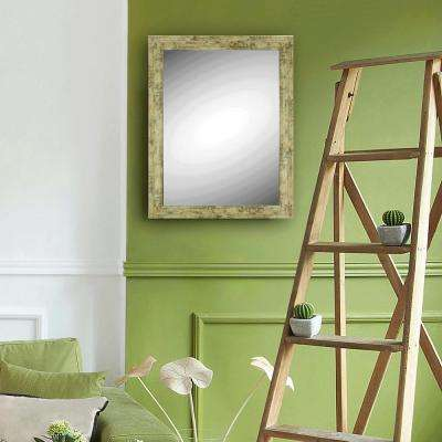 Antique Wood Look Wall Mirror