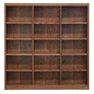 72 in. x 72 in. Dry Oak Wall Storage Unit