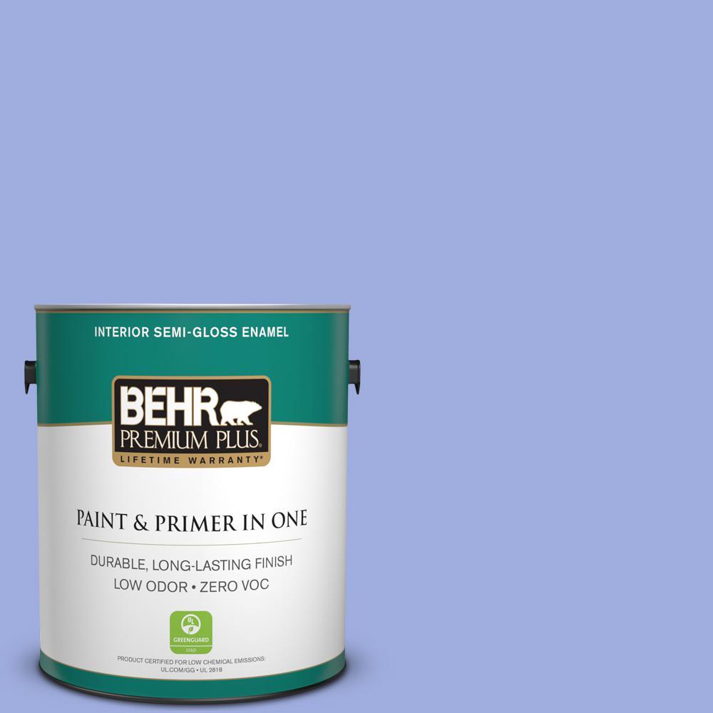 BEHR Premium Plus 1-gal. #P540-4 Lavender Sky Semi-Gloss Enamel Interior Paint