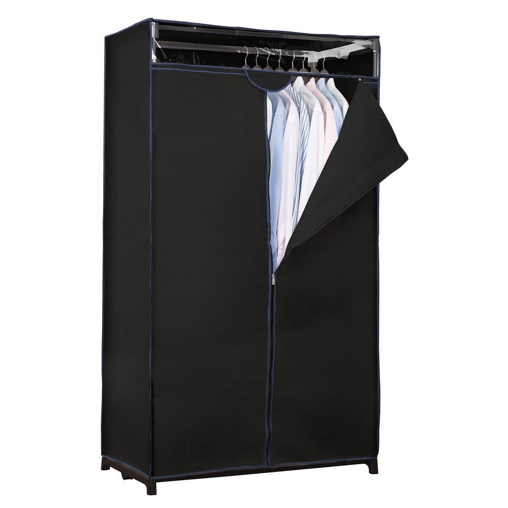 36 in. D x 63 in. H x 19 in. W Black Portable Closet