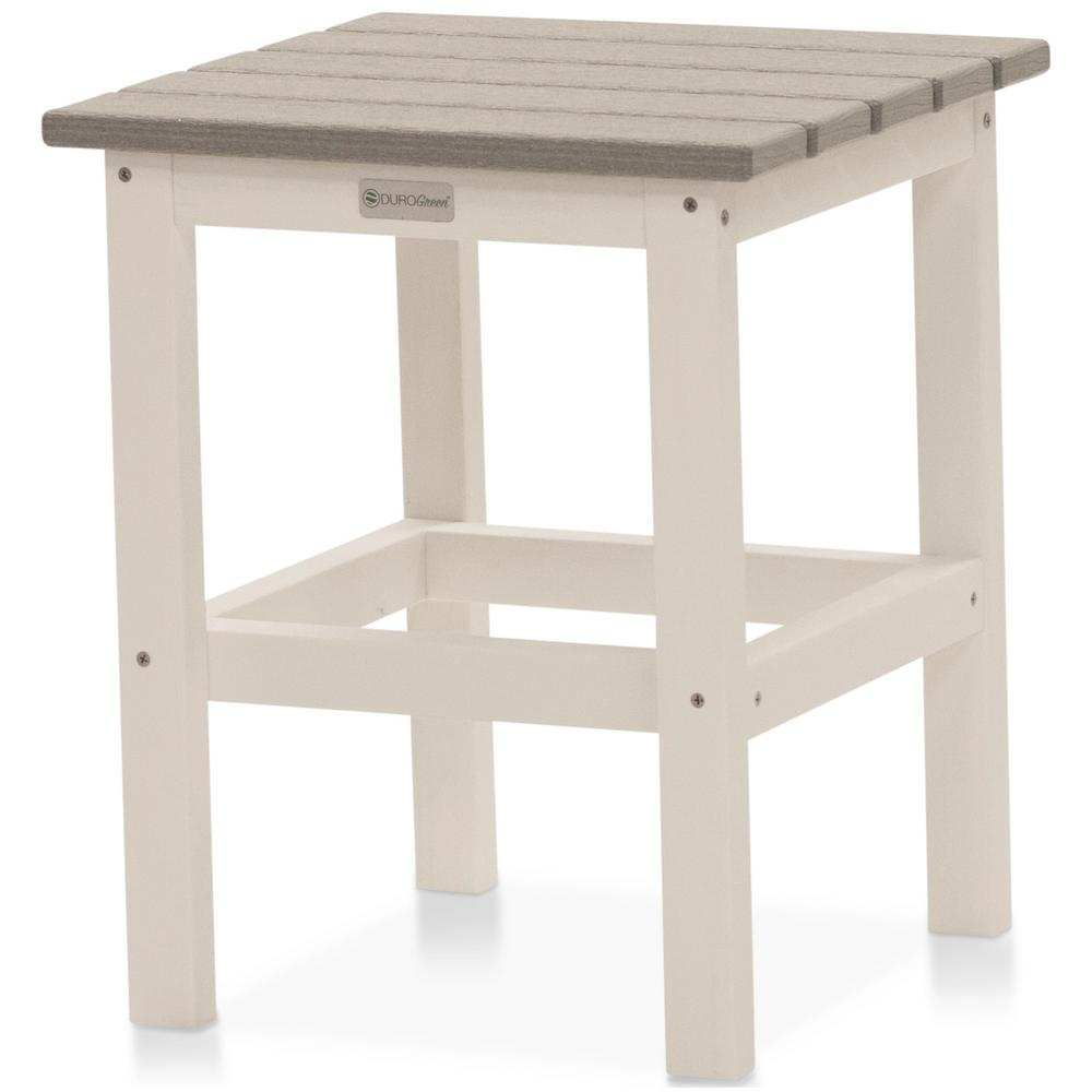 DUROGREEN Icon White And Driftwood Gray Square Plastic