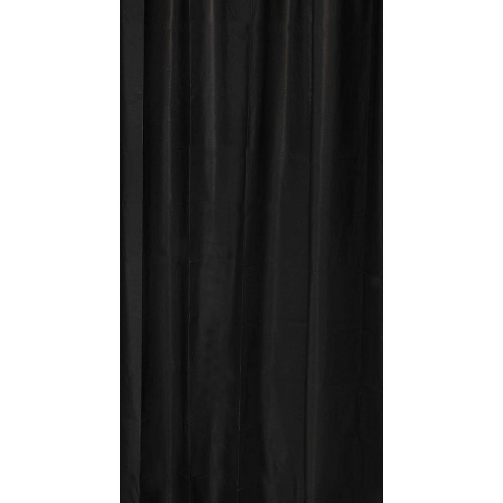 Solid Eva 71 in. x 79 in. Black Bath Shower Curtain