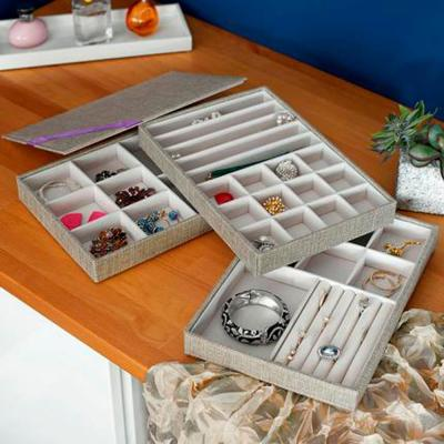 Silver Jewelry Stacking Trays