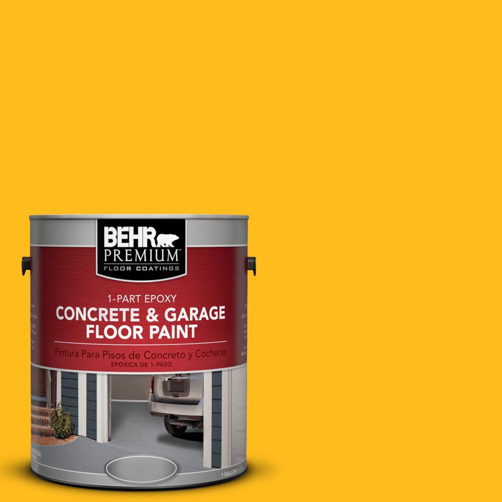 1 gal. #P290-7 Laser Lemon 1-Part Epoxy Concrete and Garage Floor Paint