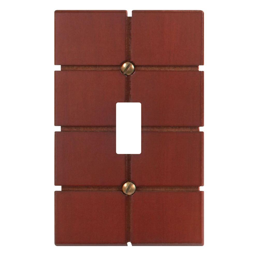 Amerelle Soho 1 Toggle Wall Plate - Brown