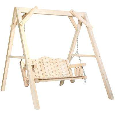 Homestead 2-Person Ready to Finish Wood Patio Swing