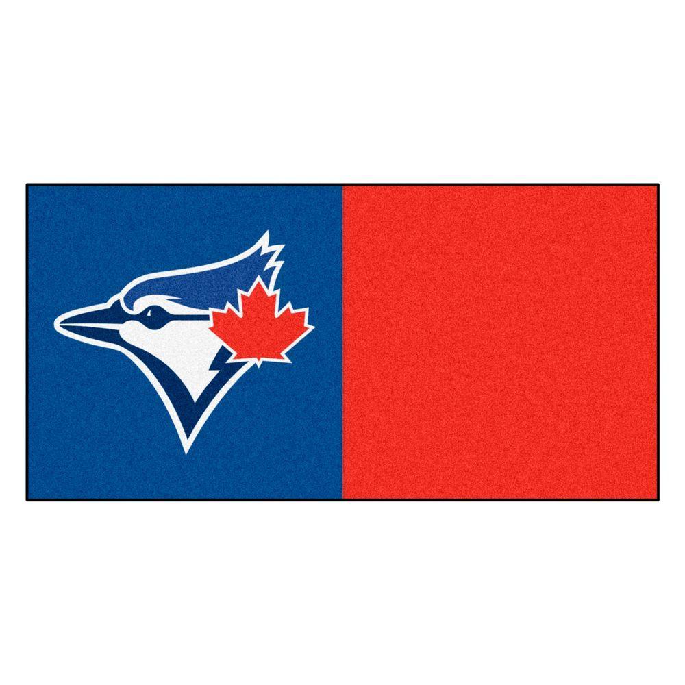MLB - Toronto Blue Jays Red and Blue Nylon 18 in. x 18 in. Carpet Tile (20 Tiles/Case)