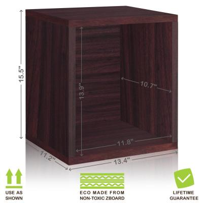 16 in. H x 13 in. W x 11 in. D Espresso Recycled Materials 1-Cube Storage Organizer