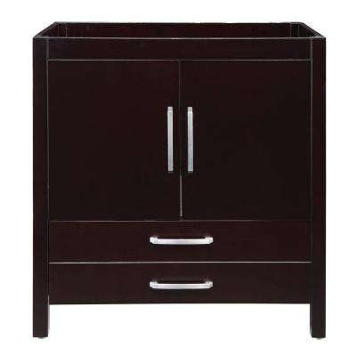 Cameron 36 in. W x 21 in. D x 35.50 in. H Birch Vanity Cabinet Only in Espresso