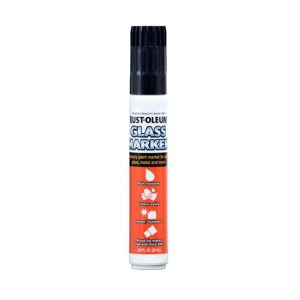 Rust-Oleum Automotive 2/3 fl. oz. Black Glass Marker