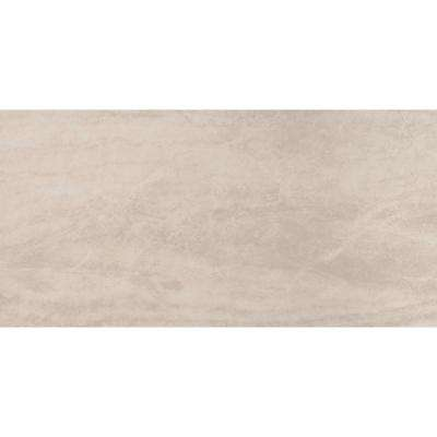 Praia Cream 24 in. x 48 in. Polished Porcelain Floor and Wall Tile (7 cases / 112 sq. ft. / Pallet)