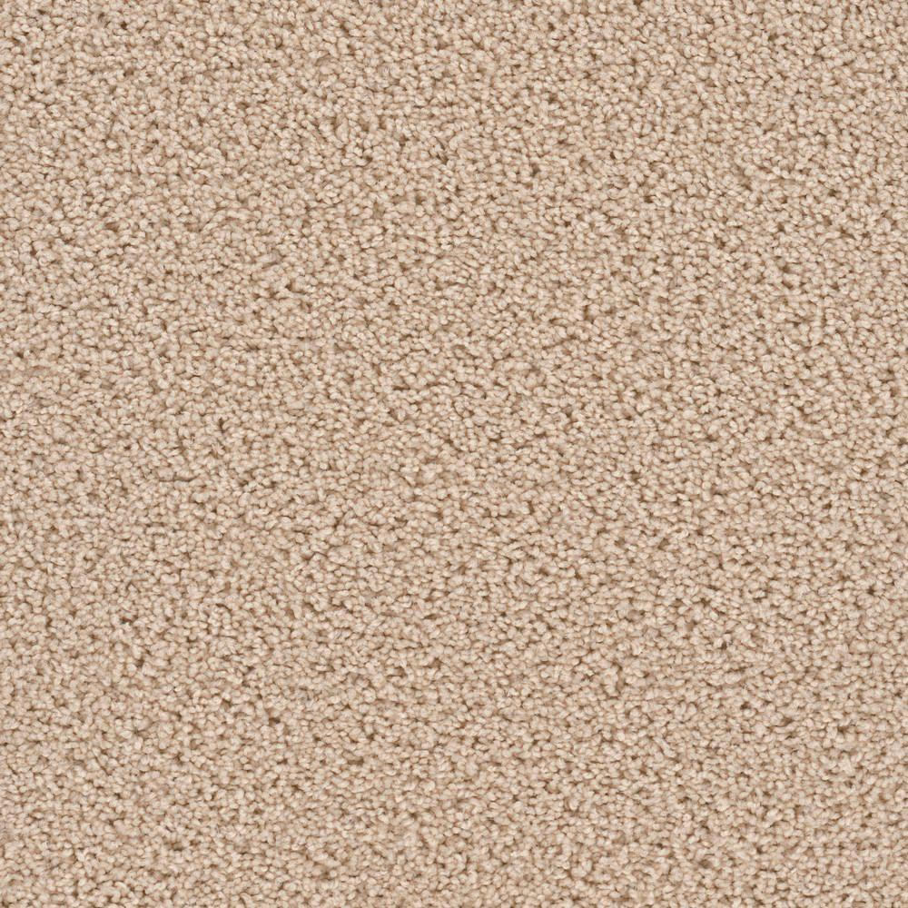 Carpet Sample - Happy Chance - Color Sunny Texture 8 in.