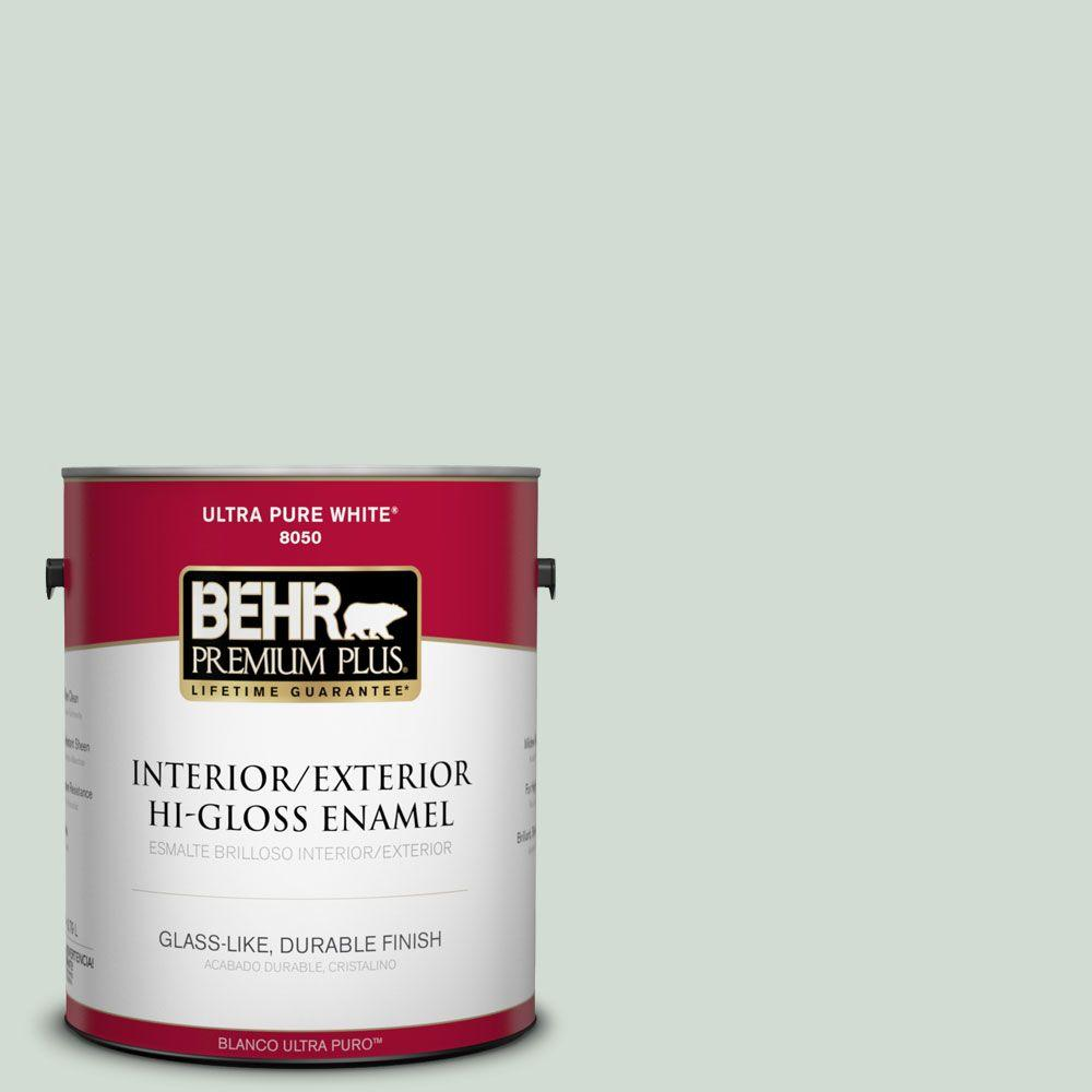 1-gal. #N400-1 Mountain Morn Hi-Gloss Enamel Interior/Exterior Paint