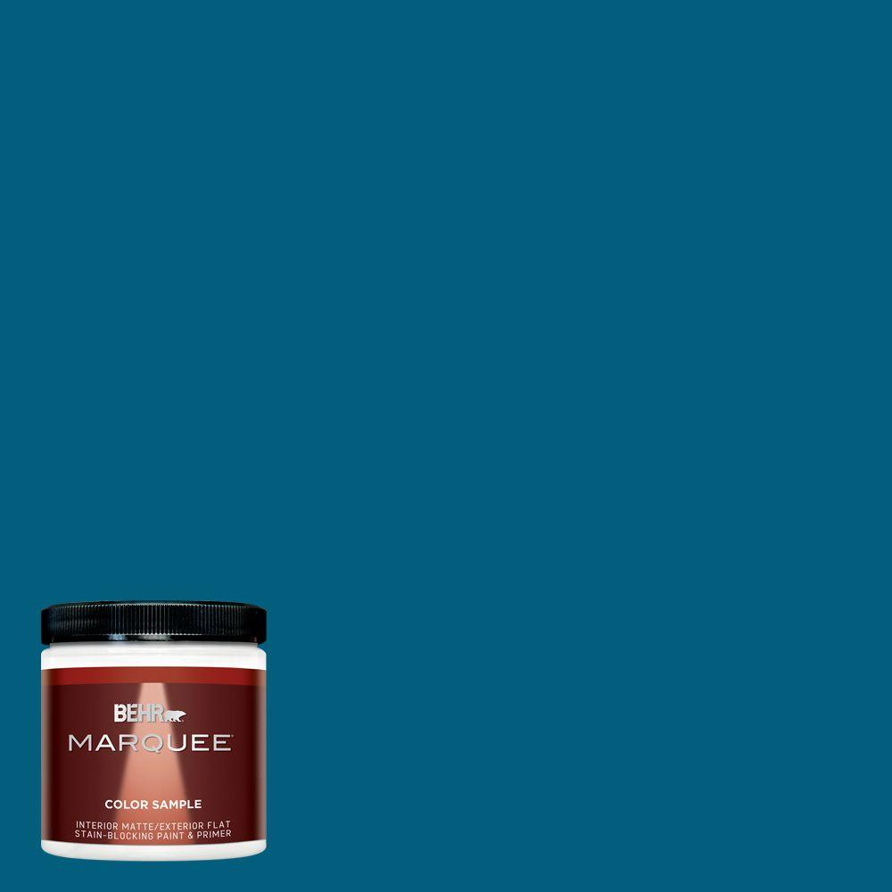 BEHR MARQUEE 8 oz. #MQ5-62 Blue Edge Matte Interior/Exterior Paint and Primer Sample