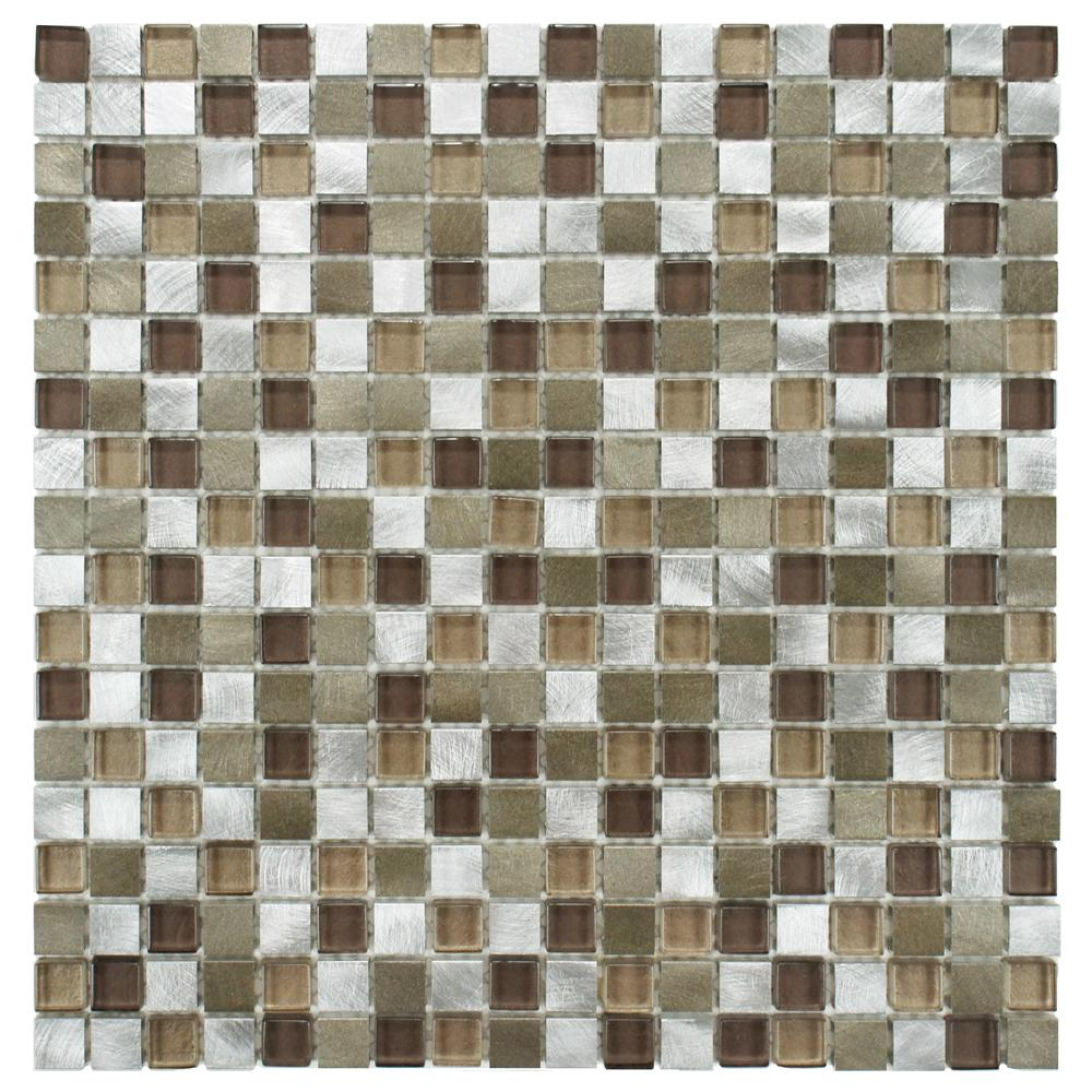 Merola Tile Fusion Mini Champagne 12 In X 6 Mm Brushed