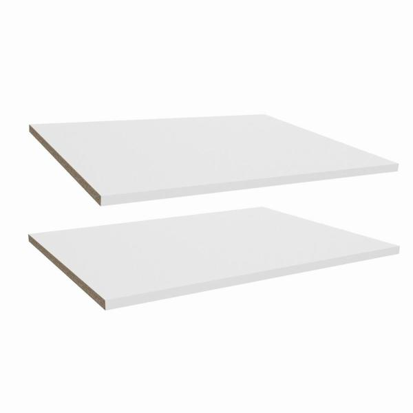 Impressions White Deluxe Shelves for 25 in. W Impressions Tower (2-Pack)