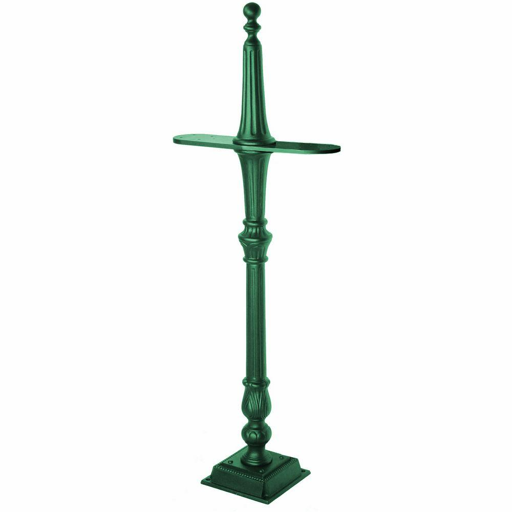 Classic 2-Sided Mailbox Post in Green