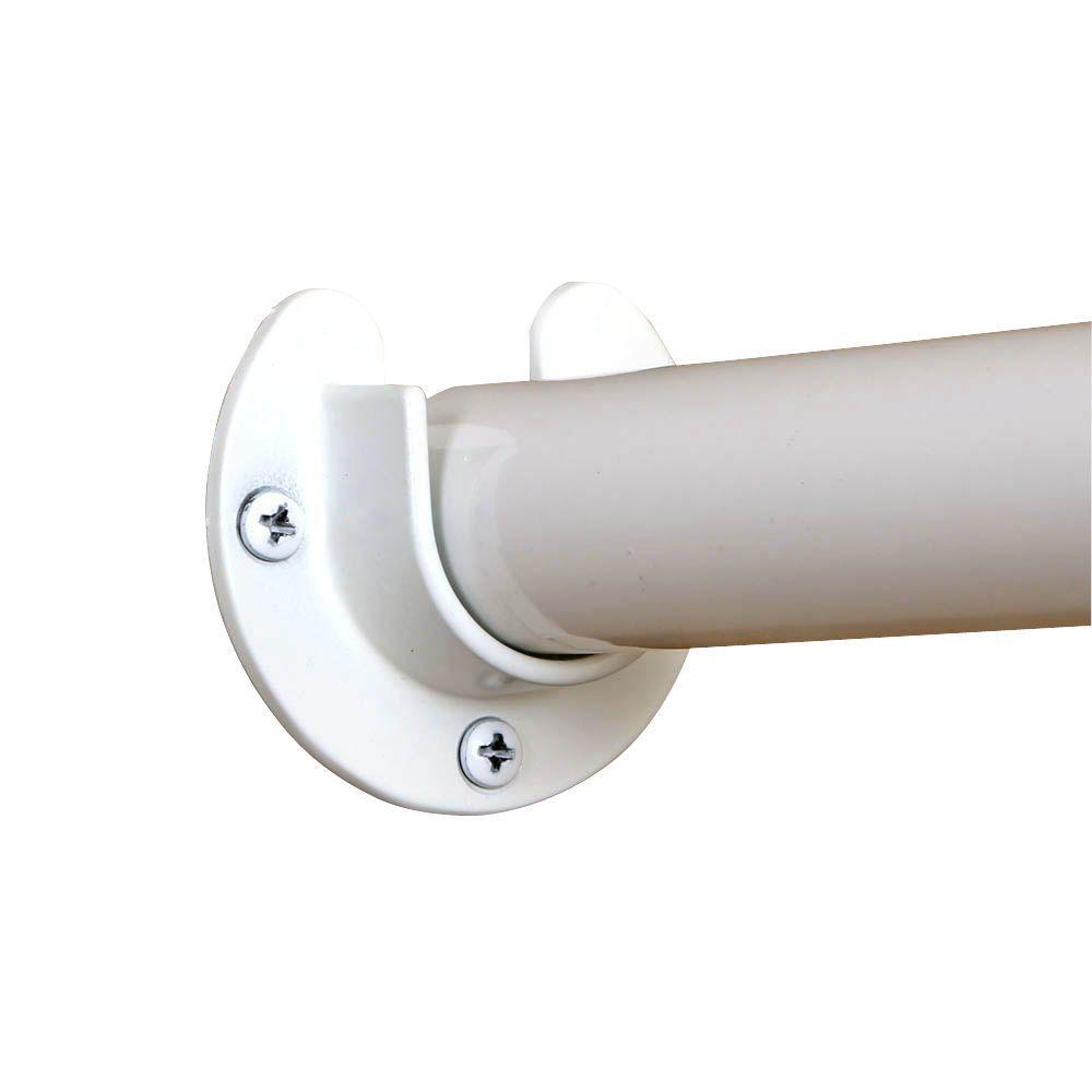 Heavy Duty White Closet Pole Sockets 2 Pack