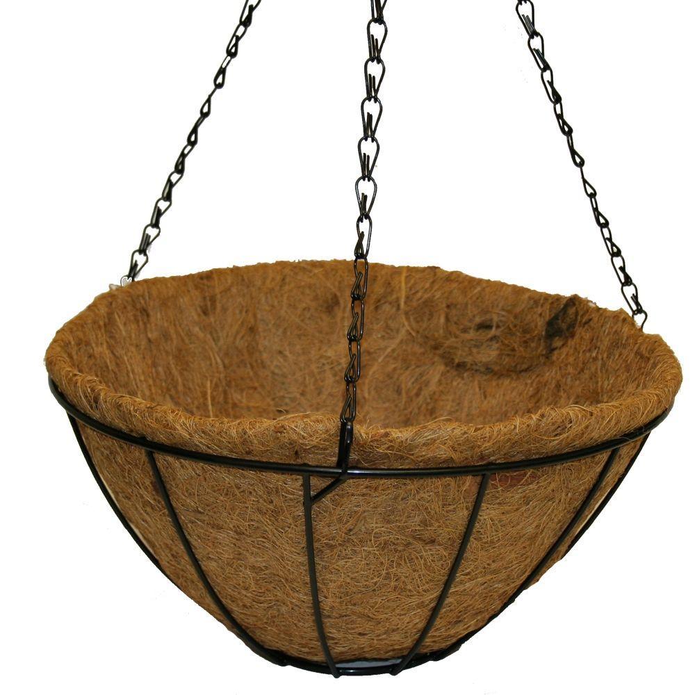 14 in. Metal Hanging Grower's Basket