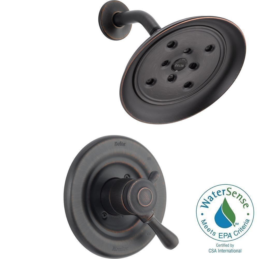 Delta Leland 1-Handle H2Okinetic Shower Only Faucet Trim Kit in Venetian Bronze (Valve Not Included)