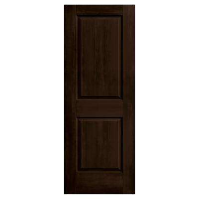 24 in. x 80 in. Cambridge Espresso Stain Molded Composite MDF Interior Door Slab