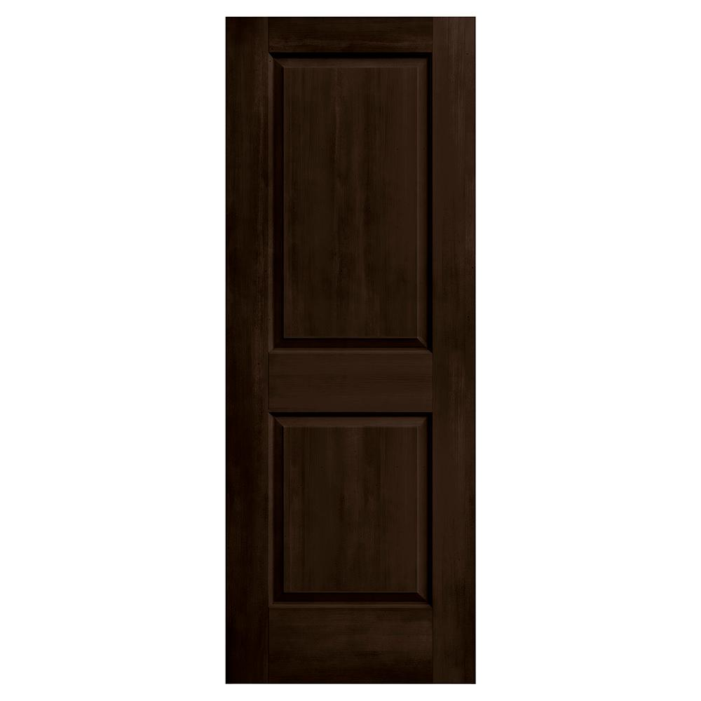 Jeld wen 30 in x 80 in cambridge espresso stain solid for Solid core mdf interior doors