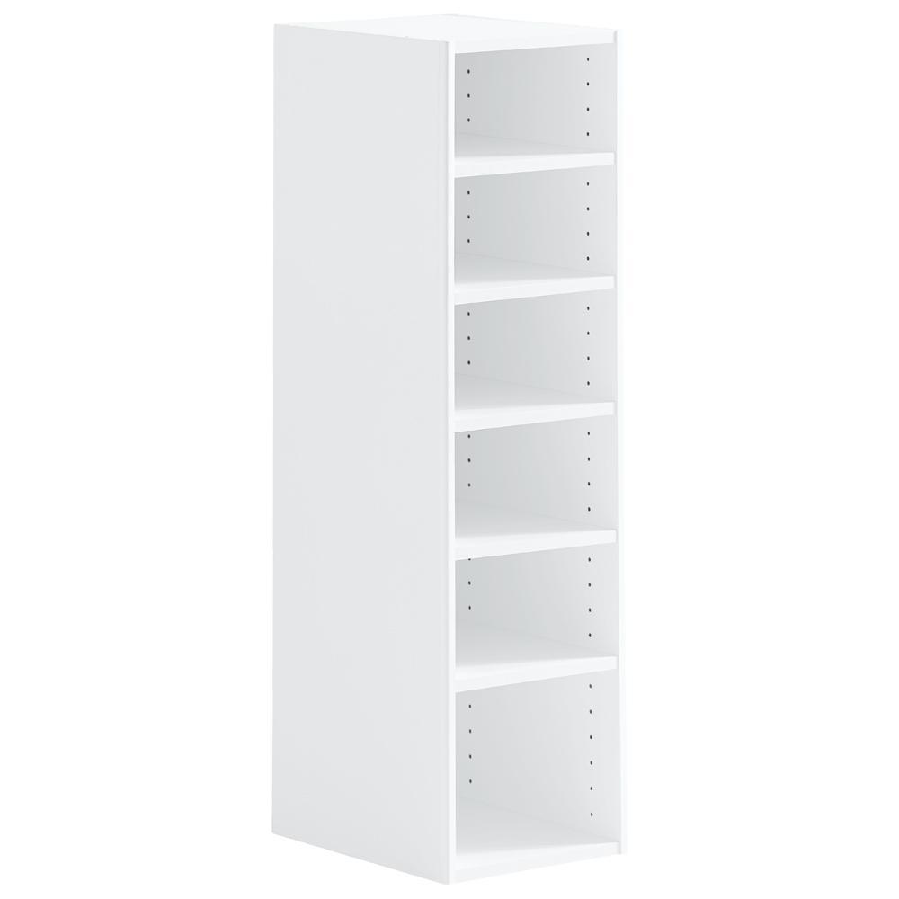 h 7shelf stackable organizer in white