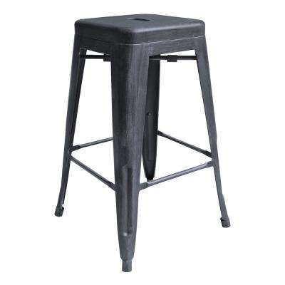Desmond 26 in. Industrial Grey Bar Stool