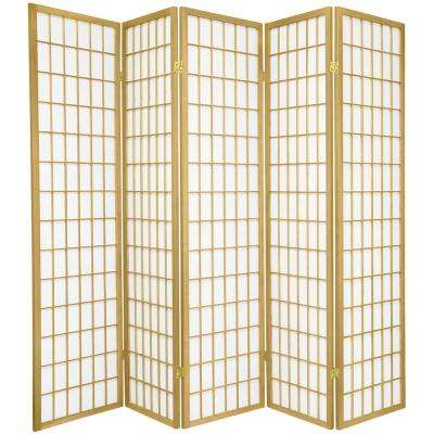 6 ft. Gold Window Pane 5-Panel Room Divider