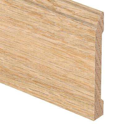 Unfinished Red Oak 5/8 in. Thick x 5-1/4 in. Wide x 94 in. Length Hardwood Base Molding