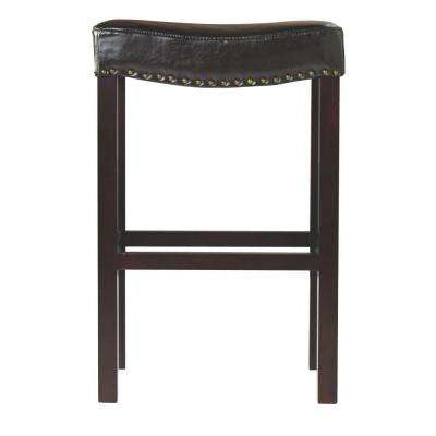 30 in. Dark Brown Cushioned Bar Stool  sc 1 st  The Home Depot & Bar Stools - Kitchen u0026 Dining Room Furniture - The Home Depot islam-shia.org
