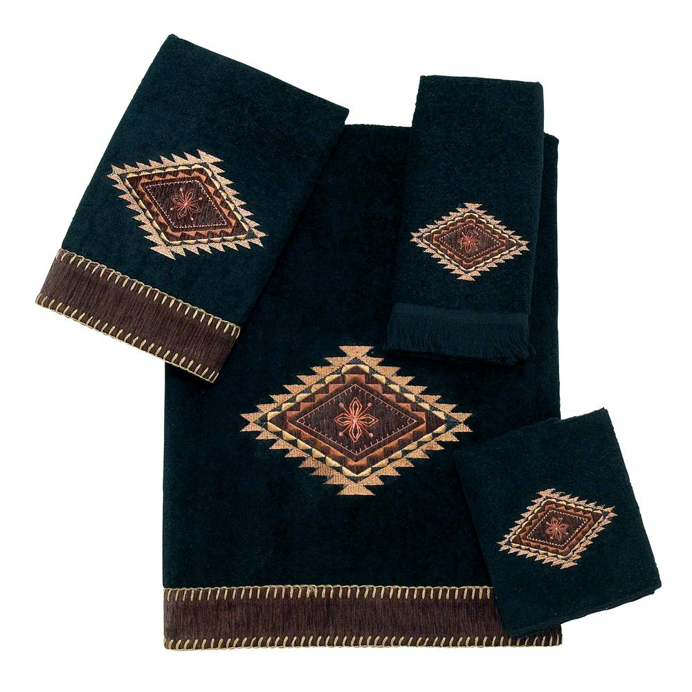 Avanti Linens Mojave 4 Piece Bath Towel Set In Black