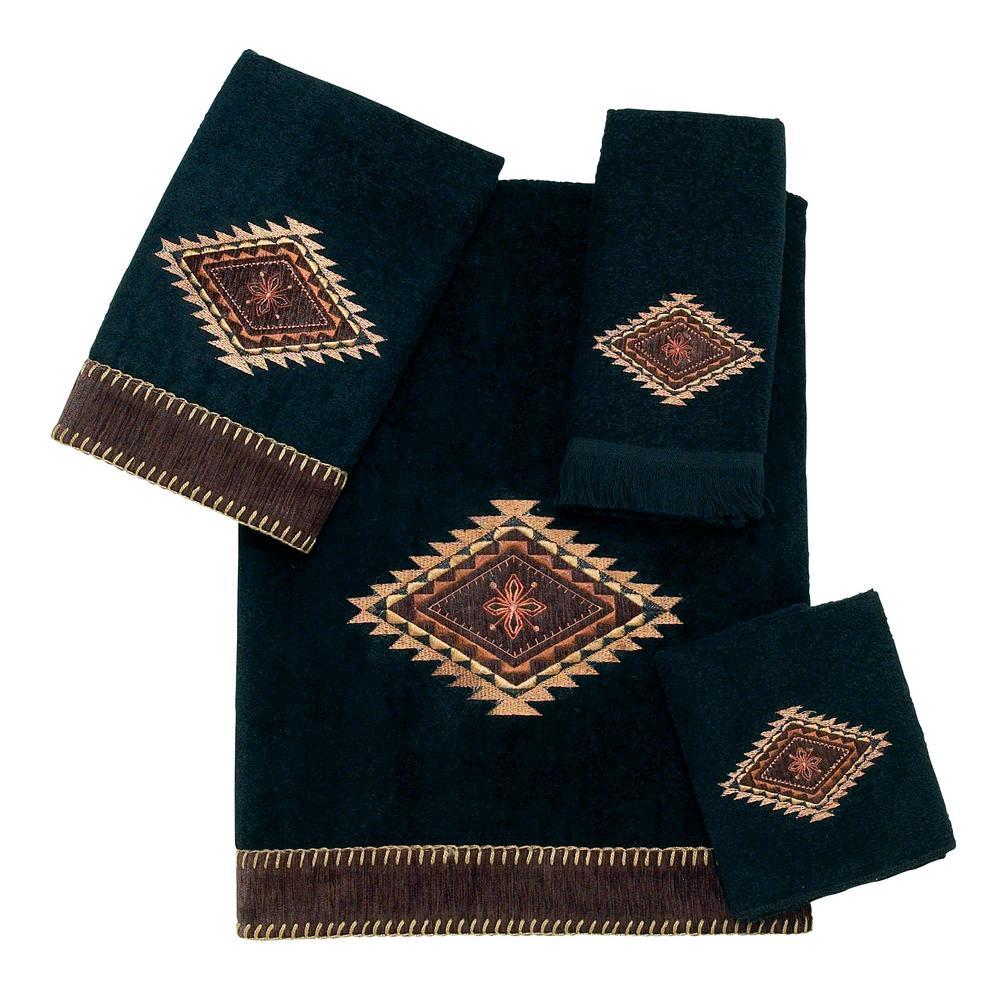 Mojave 4-Piece Bath Towel Set in Black